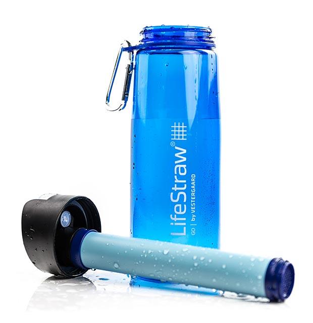 Portable Water Bottle : Lifestraw bottle go portable water purifier