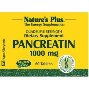 Natures Plus Pancreatin 1000 mg - 60 Tablets