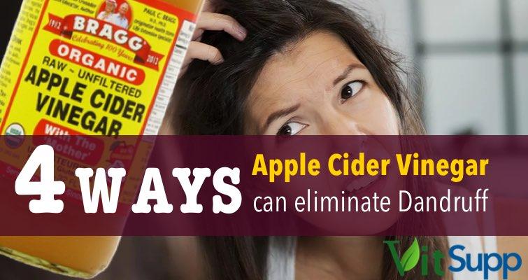 eliminate dandruff with apple cider vinegar