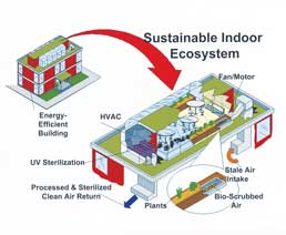 Sustainable ecosystem for the prevention of air pollution in offices and schools
