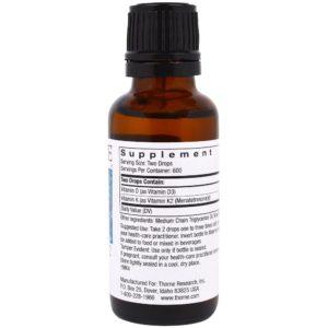 Liquid Vitamin D and K Supplement