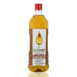 Hathmic Raw Virgin Cold Pressed Sesame Seed Oil, 1000 ml (Wood Pressed)-1