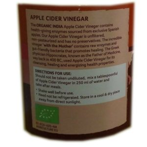 Organic India Apple Cider Vinegar-500ml-1