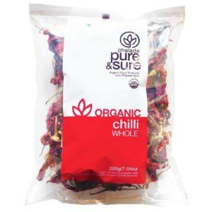 Pure & Sure Organic Chili Whole-200g