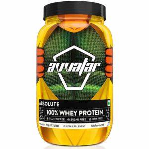 Avvatar Whey Protein Powder - Unflavoured - 100% Absolute 1 kg