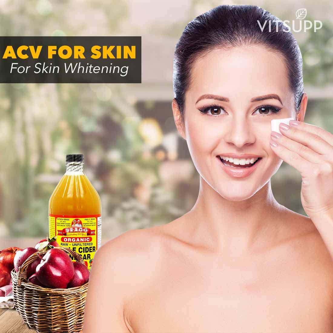 apple cider vinegar for skin whitening review