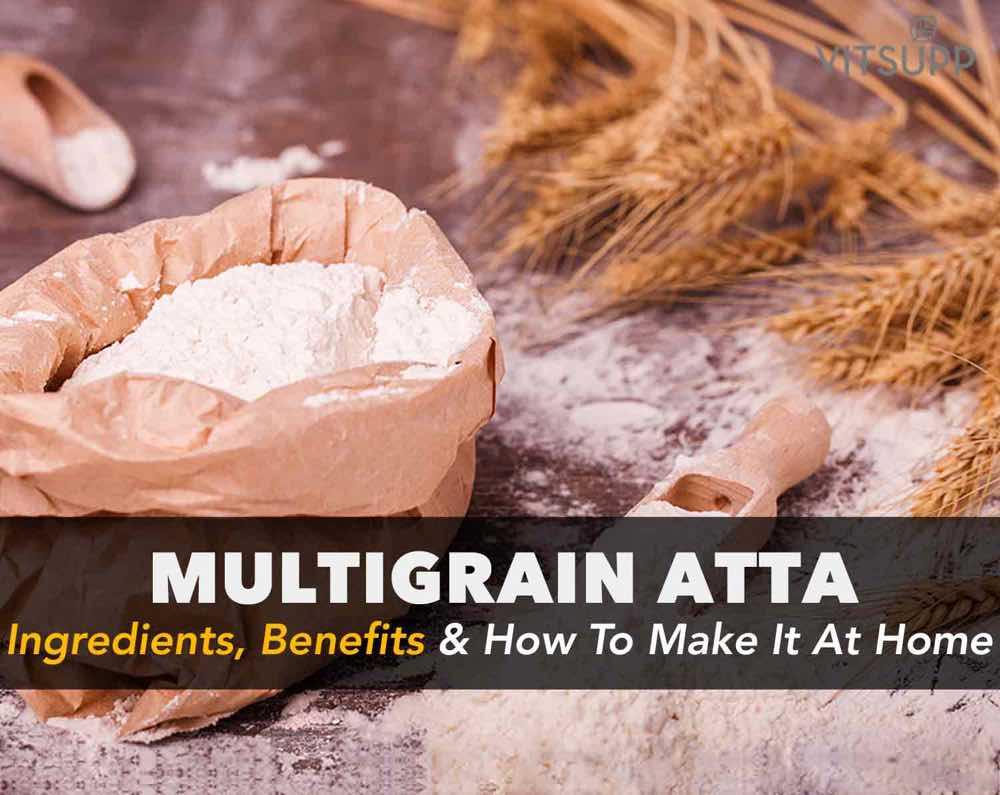 how to make multigrain atta at home in hindi